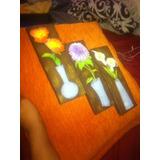 Hermoso Trio De Flores En Yeso Para Tu Terraza O Galeria
