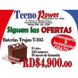 Baterias Trojan T-105 (la Roja) Para Inversores .. Americana