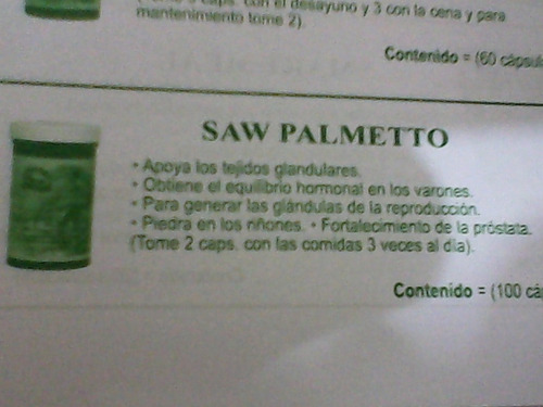 Saw Palmetto Fortalecimiento Prostata