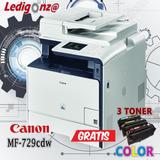 Impresora Multifuncional Color Canon Mf-729-gratis 3 Toner