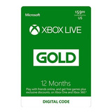 Xbox Live Gold (12 Meses) Intercambio