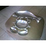 Bandejas De Aluminio Fundido En Forma De Pez Y Cangrejo
