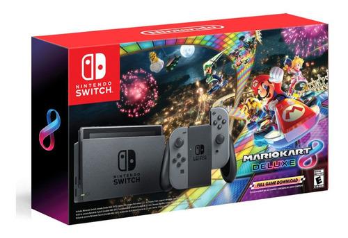 Nintendo Switch Grey Joy-con Hac-001 Combo Mario Kart 8