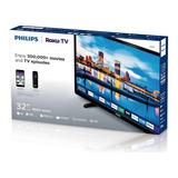 Smart Tv Philips Full Hd 32 Pulgadas (roku Tv,wifi , Netflix