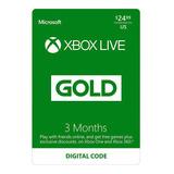 Membresia Xbox Live Gold 3 Meses Acceso Multiplayer Y Juegos