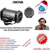 Bocina Inova Portable Bluetooth, 12w, Bazookabeats Hifi Indo