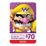 Nintendo Switch 3ds Eshop 70 Usd Codigo Digital Para Juegos
