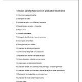 Formulas Quimicas Para Elaborar Productos