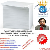 Tarjetas Pvc Cardmark, Para Impresion De Carnets, Longitud 3