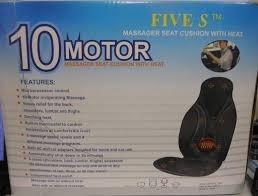 Cojín De Masajiador Vibratorio De 10 Motores