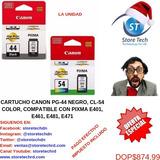 Cartucho Canon Pg-44 Negro, Cl-54 Color, Compatible Con Pixm