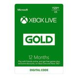 Membresia Xbox Live Gold 1 Año Acceso Multiplayer Y Juegos