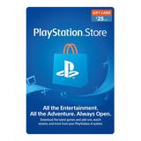 Psn Playstation Ps4 Store 25 Usd Codigo Digital Para Juegos