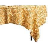 Linentablecloth Cuadrado De Saten Roseton Superposicion Mant