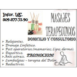Masajes Terapeuticos. En Consultorio Y Domicilio.