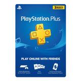 Membresia Psn Playstation Plus 3 Meses Ps4 Codigo Digital