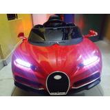 Carro Bugatti Electrico Recargable Para Niños Y Niñas Nuevo