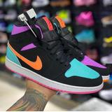 Tenis Nike Air Jordan Retro 1 Tricolor Arcoíris 2020