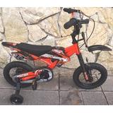 Bicicleta Tipo Motor Aro Orange 12 2019