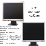 Monitor Nec Accusync Lcd52vm 15 Pulgadas Monitor Lcd