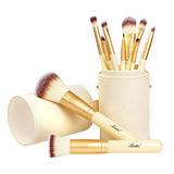 Matto Makeup Brushes Set De 10 Pinceles De Maquillaje Dorado