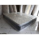 Colchon Full De 54 Doble Pillow Top Ortopedico Pillowtop