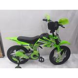 Bicicleta Moto Tipo Motocross Para Niños