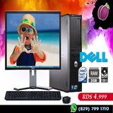 Pc Económica Core 2 Duo 2gb 160gb Monitor 20 Pulgadas