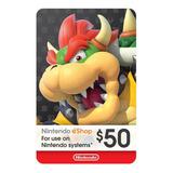 Nintendo Switch 3ds Eshop 50 Usd Codigo Digital Para Juegos