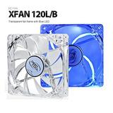 Deepcool 120mm Transparente Azul Led Ventilador Xfan 120lb