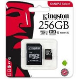 Memoria Microsd 256gb Kingston, Microsd, Clase 10 Uhs-i. Inc