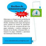 Recibos De Administración Residenciales Y Edificios *