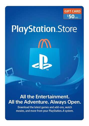 Psn Playstation Ps4 Store 50 Usd Codigo Digital Para Juegos