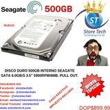 Disco Duro 500gb Interno Seagate Sata 6.0gb/s 3.5  5900rpm/8