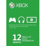 12 Meses Xbox Live Gold Membership Card (xbox One/360)