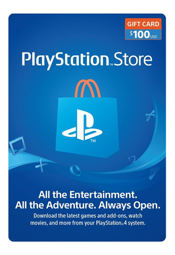 Psn Playstation Ps4 Store 100 Usd Codigo Digital Para Juegos