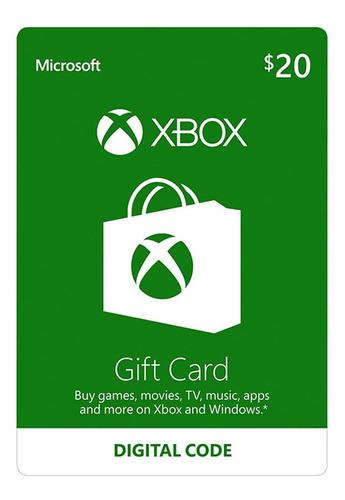 Xbox One Y 360 Live Store 20 Usd Codigo Digital Para Juegos