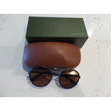 Longchamp Lo631s 424 Round Blue Sunglasses / Lentes De Sol