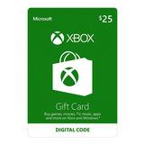 Xbox One Y 360 Live Store 25 Usd Codigo Digital Para Juegos