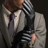 Guantillas Leather  Negra