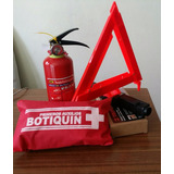 Kit Extintor Botiquín Triangulo Seguridad Vehicular