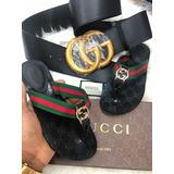 Cinturon Gucci Y Chancleta