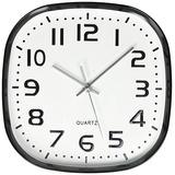 Uniware Cl348 Redondo Cuadrado Reloj De Pared Silencioso Cua
