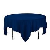 Mantel De Lino 85inch Mantel Cuadrado De Poliester Azul Mari