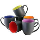 Iti Ceramic Bistro Hilo Tazas De Cafe Con Raspador Pan 14 Ou