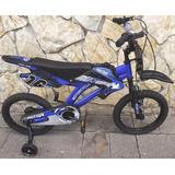 Bicicleta Tipo Motor Aro 16 Azul 2019 No Hacemos Envio