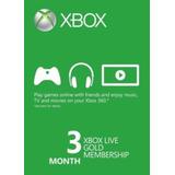 3 Meses Xbox Live Gold Membership Card (xbox One/360)