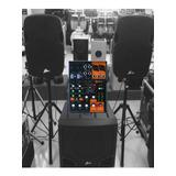 Sonido Amplificado Bajo, Dos Bocinas, Consola Y Microfono