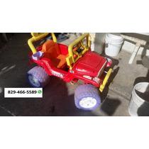 Carro Electrico Fisher Price Con Bateria Y Cargador
