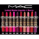 Labial 2 En 1 Liquido+barra Mac Maquillaje Al Mayor